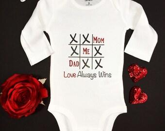 Girls Valentine's Day Onesie, Baby Valentine's, Valentine One-Piece, Kids Valentine's, Valentine's Gift