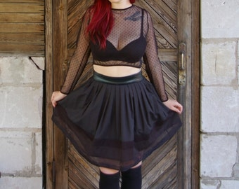 Tulle lace crop top / Gothic top / Punk crop top / Lace crop top / Lolita crop top / Mesh crop top SALE