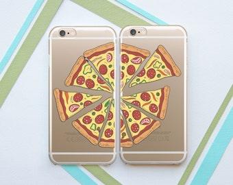 Pizza Couples Cases Best Friends iPhone 7 Plus Clear Galaxy Case Couples Samsung Edge Case Google Pixel XL Case Galaxy S8 Case OCT_0006
