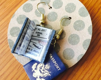 Passport Earrings