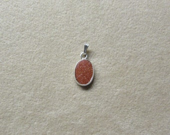 Gorgeous Aventurine Feldspar STERLING silver pendant.