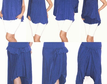 Violet Blue Convertible Wrap Infinity Multi - way Dress Tunic Skirt Pants - more than 18 ways to wear, No.1