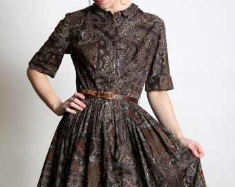 SALE- Paisley Shirtwaist Dress