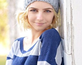 Pom Pom Beanie / Women's Crochet Beanie / Slouchy Beanie Hat for Women / Chunky Winter Hat / Crochet Slouchy Hat / Fall Fashion / Boho Chic