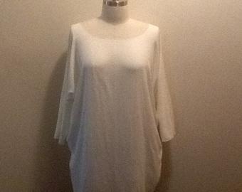 Sale. Lagenlook tunic, dress, plus size, boho, shabby chic, minimalist, Parisienne farmgirl chic