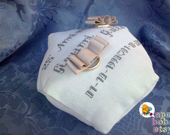 Faith cushion/Wedding Ring Bearer Pillow