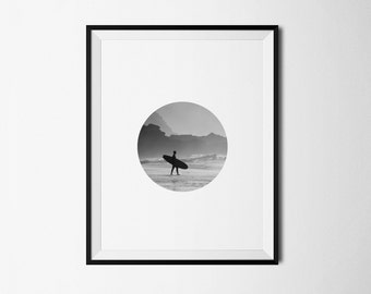 Surf print, Surf printable, Surfer print, Surfer printable, Surfer ocean, Summer ocean, Summer print, Ocean print, Ocean printable