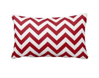 Red Throw Pillow Cover Red Chevron Pillows Zig Zag Pillows Red Pillow Covers Decorative Pillows for Bed Red Lumbar Pillows Long Pillows