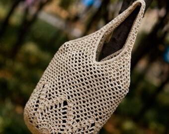Crochet Shoulder Bag Pattern,  Boho Purse Tote Handbag, Market Tote Bag PATTERN, -PDF Download