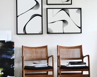 Abstract Wall Art, Set of 3 Prints,Minimalist Poster, Minimalist Wall Art, set of 3 wall art, Set Of Prints, Printable set, Wall Art Set