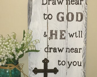 Draw Near to God Pallet Scripture