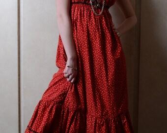Red Granny Dress