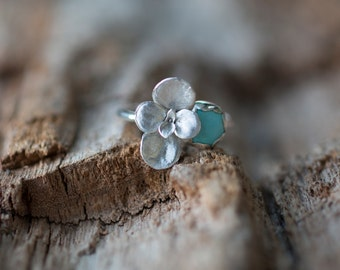 Succulent Ring, Carico Lake Turquoise Succulent Ring by Prairieoats