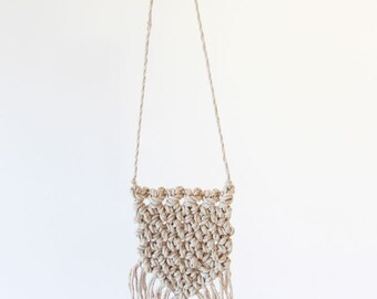 Mini Macrame Linen Wall Hanging