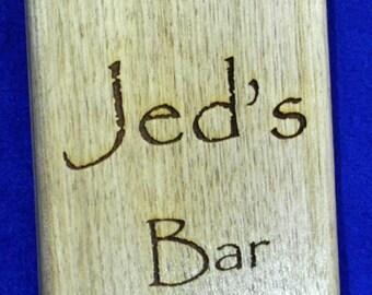 Christmas Gift For Dad ~ Groomsmen Gift ~ Bar Gift ~ Custom Bar Sign ~ Custom Bottle Opener ~ Engraved Gifts For Men ~ Gifts For Dad ~ Bar ~