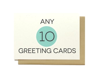 Mix and Match Any 10 Greeting Cards - Assorted Greeting Cards