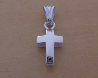 925 Sterling Silver Small Spliced Latin Cross Pendant