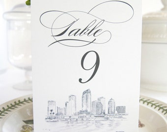 Tampa Skyline Table Numbers (1-10)