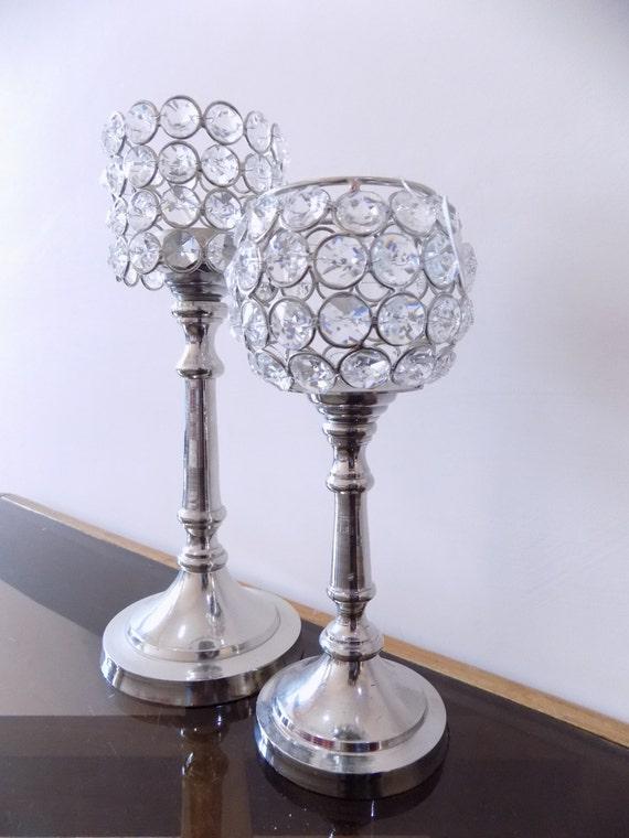 Candle Holder Centerpiece Uk : Crystal votive tealight candle holders wedding centerpieces