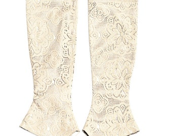 White lace leggings