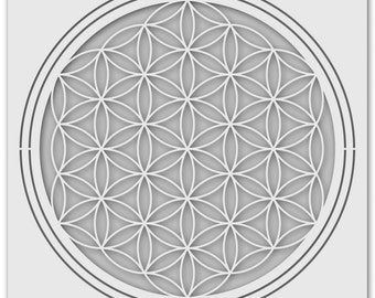 Template flower of life (surface representation) 1193