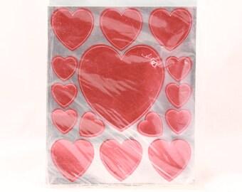 Vintage Hallmark Valentine Heart Sealed Sticker Package. 4 Sheets