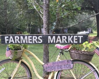 Farmers Market rustic wood sign