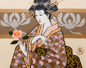 Geisha and camellias