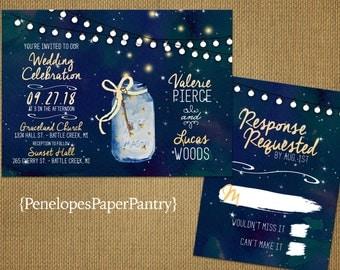 Starry night invite | Etsy