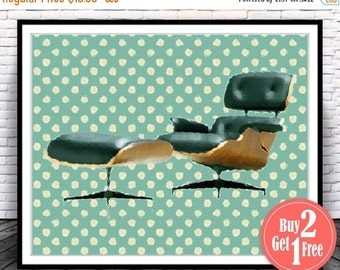 SALE: Charles Eames Chair Eames Lounge Chair Eames Chair Poster Eames Print Mid Century Poster Mid Century Print Retro Poster