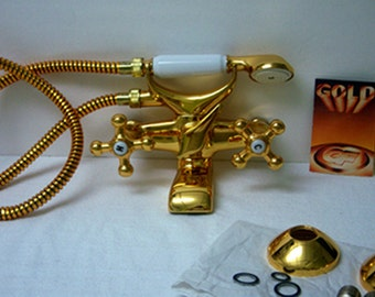 Gruppo Vasca Esterno Tub Shower Faucet Set 24K Plated