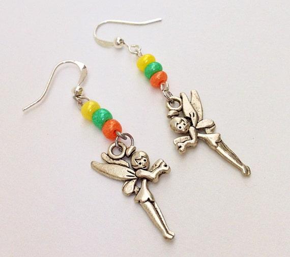Tinkerbell Charm Bracelet: Items Similar To Tinkerbell Earrings, Disney Tinkerbell