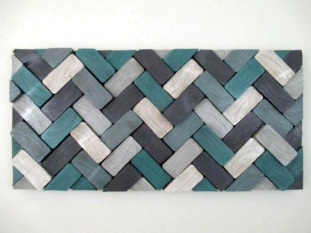 Blue and brown bedroom decor - Herringbone Wood Slice Art Sculpture Office Wall Art Bedroom D Cor Wall Hanging Wood Art Wooden Wall Sculpture Modern Art Large Wall