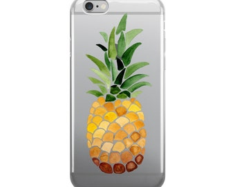 Watercolor Pineapple iPhone Case   iPhone 7/6/6s/5/5s/SE   iPhone 7/6/6s Plus   Pineapple Case   Phone Case   Apple iPhone Case   Gift Ideas
