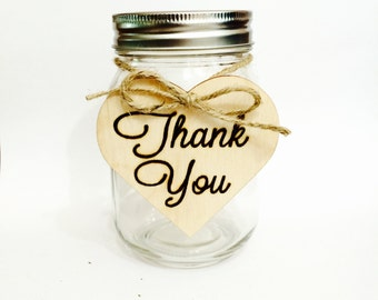 Thank you sign - heart shaped wood sign