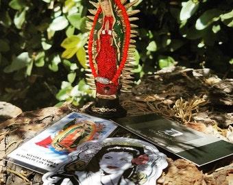 Mini Virgen De Guadalupe Statue