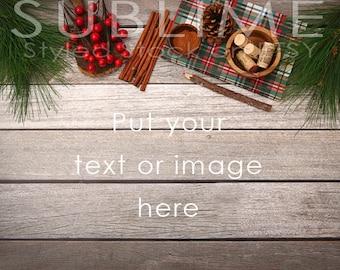 Styled Stock Photography / Christmas Styled / Product Styling / Digital Background / Wood Background / JPEG Digital Image / StockStyle-574