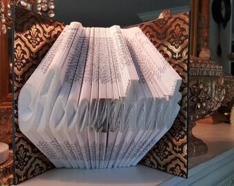 Accountant Folded Book Art, Graduation gift, CPA Gift, Office Decor, Accountant Gift, Tax Accountant Gift, Accounting Book, CFO Gift