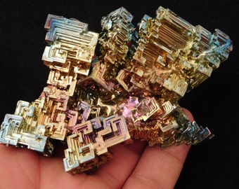 A HUGE! Bismuth Crystal with a Very Symmetrical Pattern from Germany! 219.8gr e