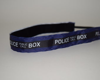 Dr. Who headband- Tardis headband- Police Box headband- Tardis- Doctor Who Headband