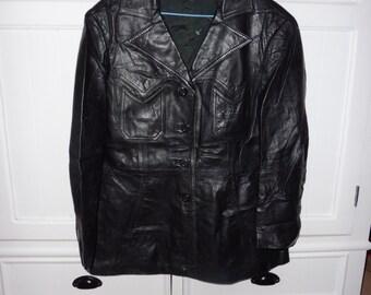 Vintage size 46 leather jacket