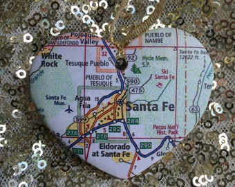 Santa Fe Map Ornament
