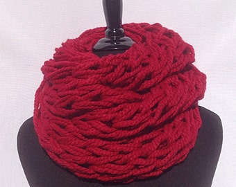 Infinity Scarf in Valentine's Red