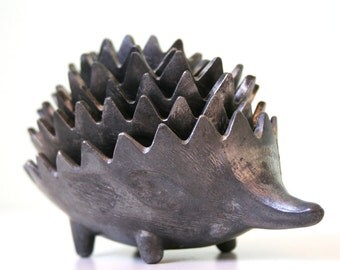 Vintage metal hedgehog Set -  Walter Bosse