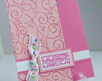 Valentine - Pink Swirls