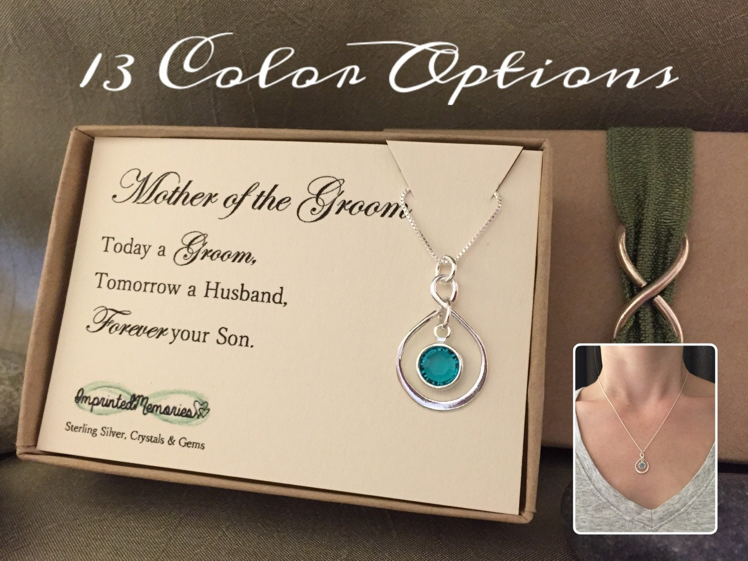 Grooms Gift To Mom: Mother Of The Groom Gift From Groom Necklace By