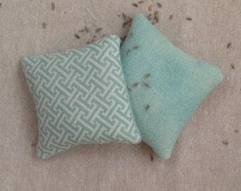 Lavender Sachets- Aqua 3.5 inch square