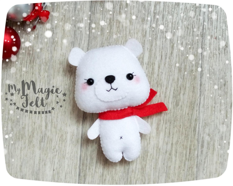 Adornos navide os fieltro oso polar ornamento regalos de - Adornos navidenos de fieltro ...