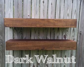 Custom Shelf, Floating Wood Shelves, Floating Shelf, Wood Shelf