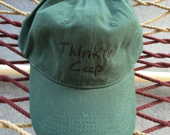 Thinkin Cap - Forest Green with Black letters